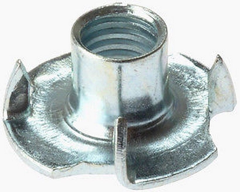 New Pack Of 10 T Nuts M6 For Wood Furniture Leg Tee Nut