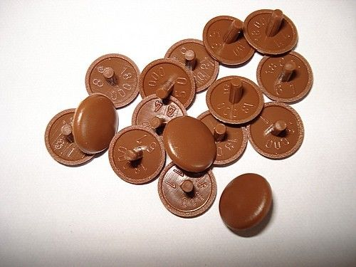NEW Pack of 25 PLASTIC TRIM COVER CAPS COUNTERSUNK SCREWS choose colour